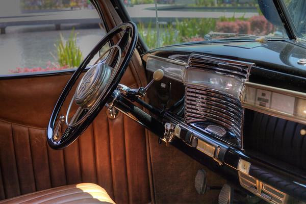 Old car interior.