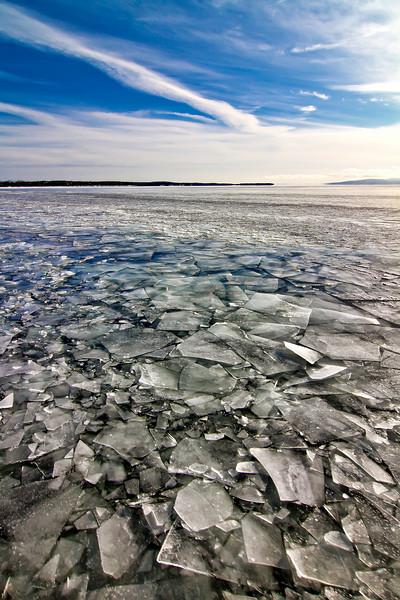 Lake Champlain, February, 2009