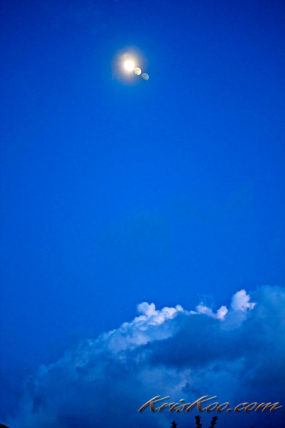 The moon through my window