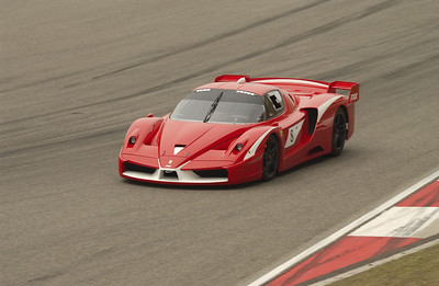A Ferrari FXX doing a demo run at Shanghai International Circuit during the A1GP weekend 2008.