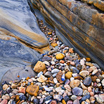 """""""Entrance to the Stones in Concert""""  From the Rock Textures in Point Lobos Series.  Matched pair with """"Sea of Pebbles"""""""