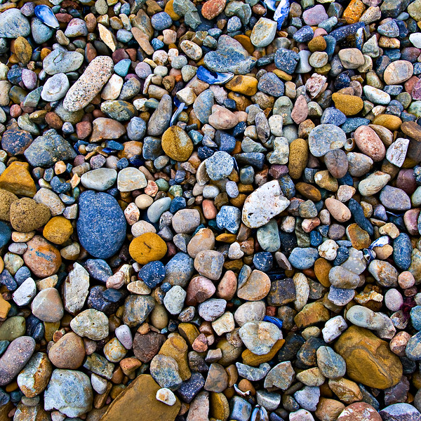"""""""Sea of Pebbles""""  Rock Textures in Point Lobos.  This is a nice simple but colorful image of the sea pebbles at Point Lobos - one of my favorite places to shoot.  I just updated the image as I was printing some 24x24 canvas giclée images for customers and wanted to share."""