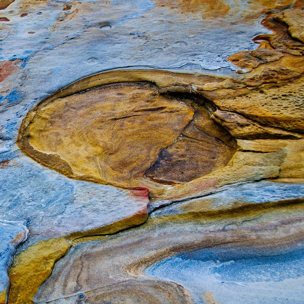 Rock Textures in Point Lobos, #4