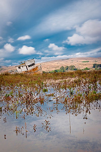 """The Old Abandoned Point Reyes Fishing Boat"" - Tomales Bay, Point Reyes National Seashore, California"