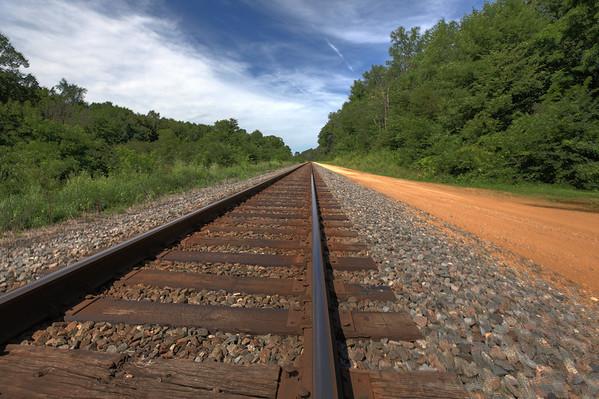 Burlington Northern Santa Fe tracks outside of Polo, Illinois.