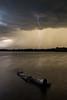 Lightning on the pond
