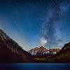 Maroon Bells inder the Autumn Stars