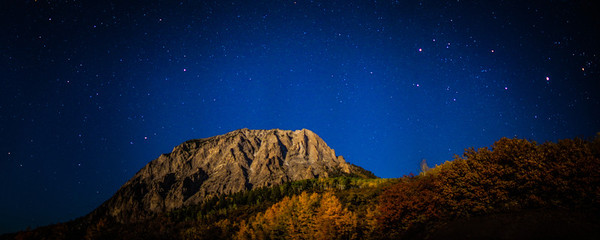 "<font size=""5"" font="""" face=""trajan pro, Copperplate Gothic Bold""><b>Marcellina Mountain</b></font> <font face=""trajan pro"">Moonlight Marcellina Mountain on Kebler pass near Crested Butte Colorado</font>"