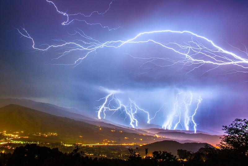 Intense lightning storm hitting snowmass colorado