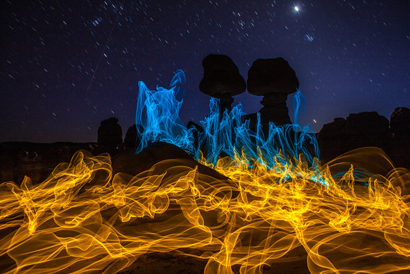 Magic Fire Goblin Valley Utah