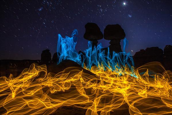 Magic Fire Goblin Valley Utah