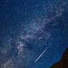 """<font size=""""5"""" font="""""""" face=""""trajan pro, Copperplate Gothic Bold""""><b>Double Arch Meteor</b></font> <font face=""""trajan pro"""">Double Arch in Arches National Park during the Perseid Meteor Shower. The arches were lit with a flashlight in a separate exposure after i saw the meteor streak across the sky.</font>"""