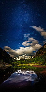 Moonlit Maroon Bells The Maroon Bells under a full Moon near Aspen Colorado