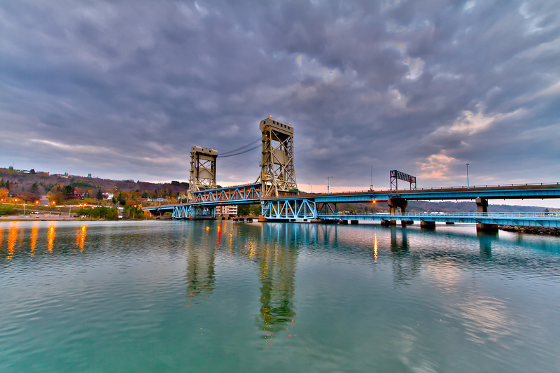 Ominous clouds covering the Portage Lift Bridge are sure signs that winter is just around the corner (taken 11/6/11).