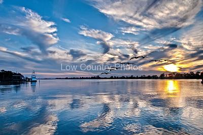 Blue Sky Sunset - Heritage Marina - Pawleys Island, SC