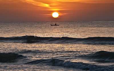 Fishing at Sunrise - Pawleys Island