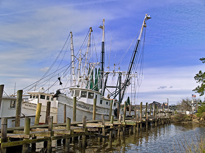 """Georgetown Shrimper"" - Fishing Boat in Georgetown South Carolina The Watermark will not show on printed images"