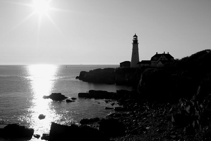 Portland Head in Black and White