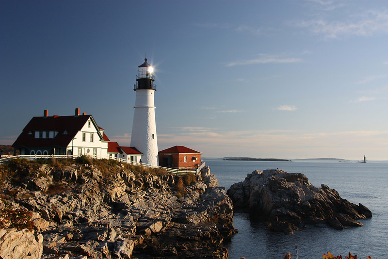 Portland Head Lighthouse with Reflection