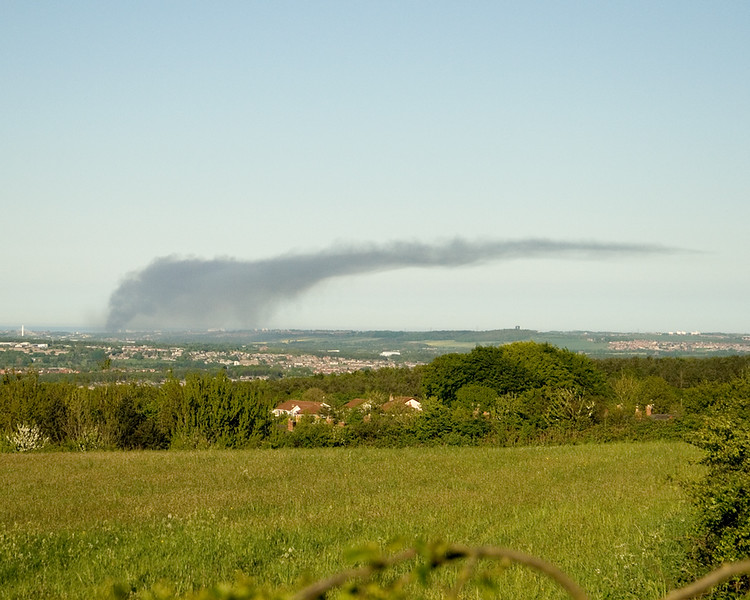 Fire at Deptford Sunderland seen from Stanley...........35 miles away!