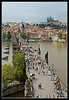 View of Charles Bridge from The Bridge Tower