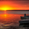 Sunset at Buffalo Lake, Alberta