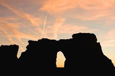 Monument Rocks at sunrise, Gove Co., Kansas