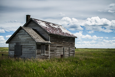 Time takes its toll on a forgotten house