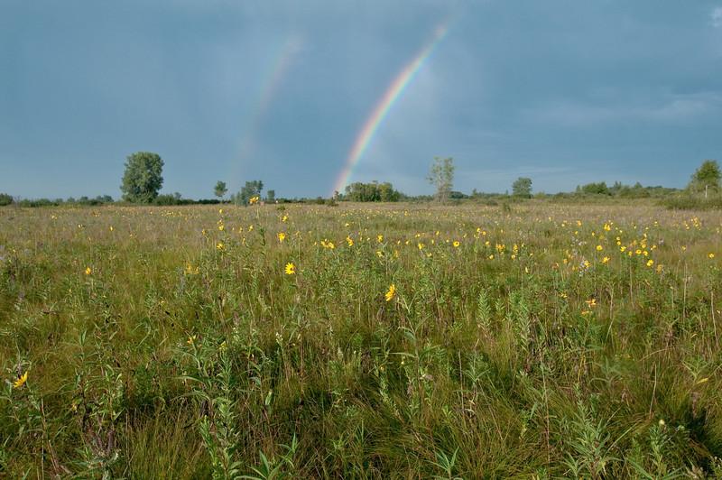 MNPR-9043: Double rainbow over Roscoe Prairie