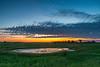 Twilight at prairie pothole