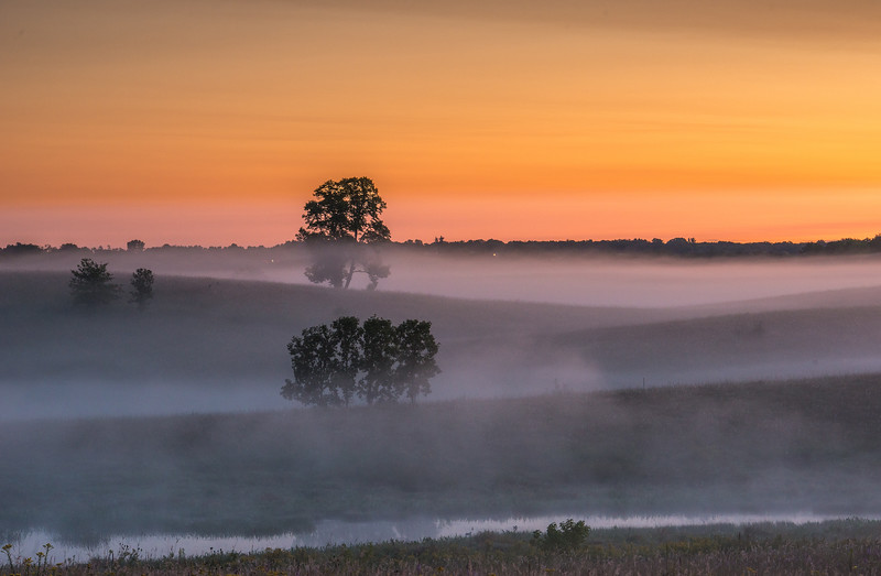 Morning fog on the prairie