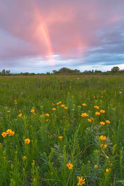 MNPR-10029: Double rainbow over Roscoe Prairie