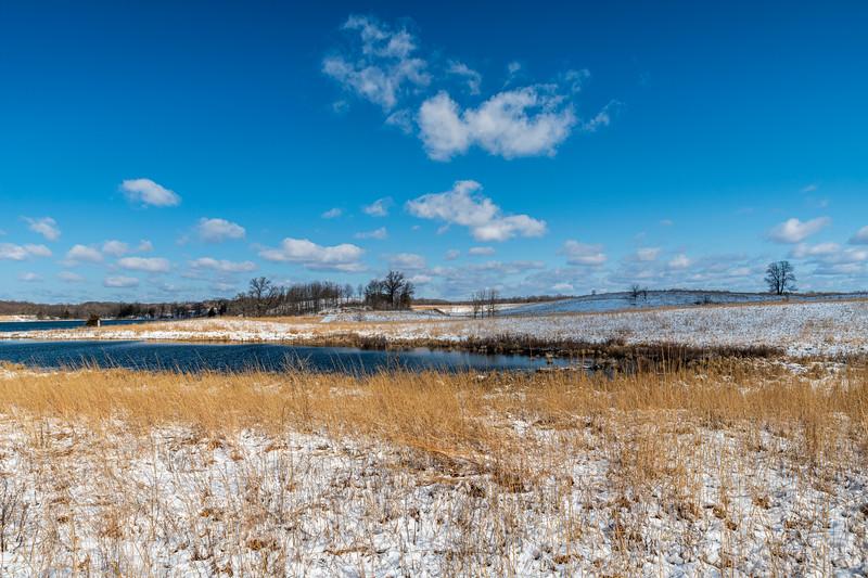 April snow on prairie