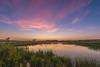 Twilight reflection in prairie pothole
