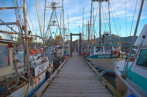 Sunrise on Ucluelet Dock