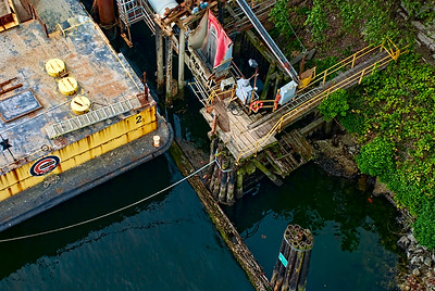 Barge and Wharf