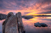 Sunset at Watson Lake in Prescott, AZ