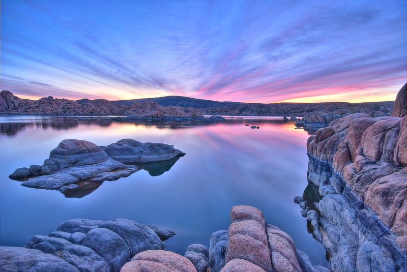 Long Exposure Sunrise at Watson Lake in Prescott