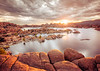 July sunrise at Watson Lake in Prescott, Arizona