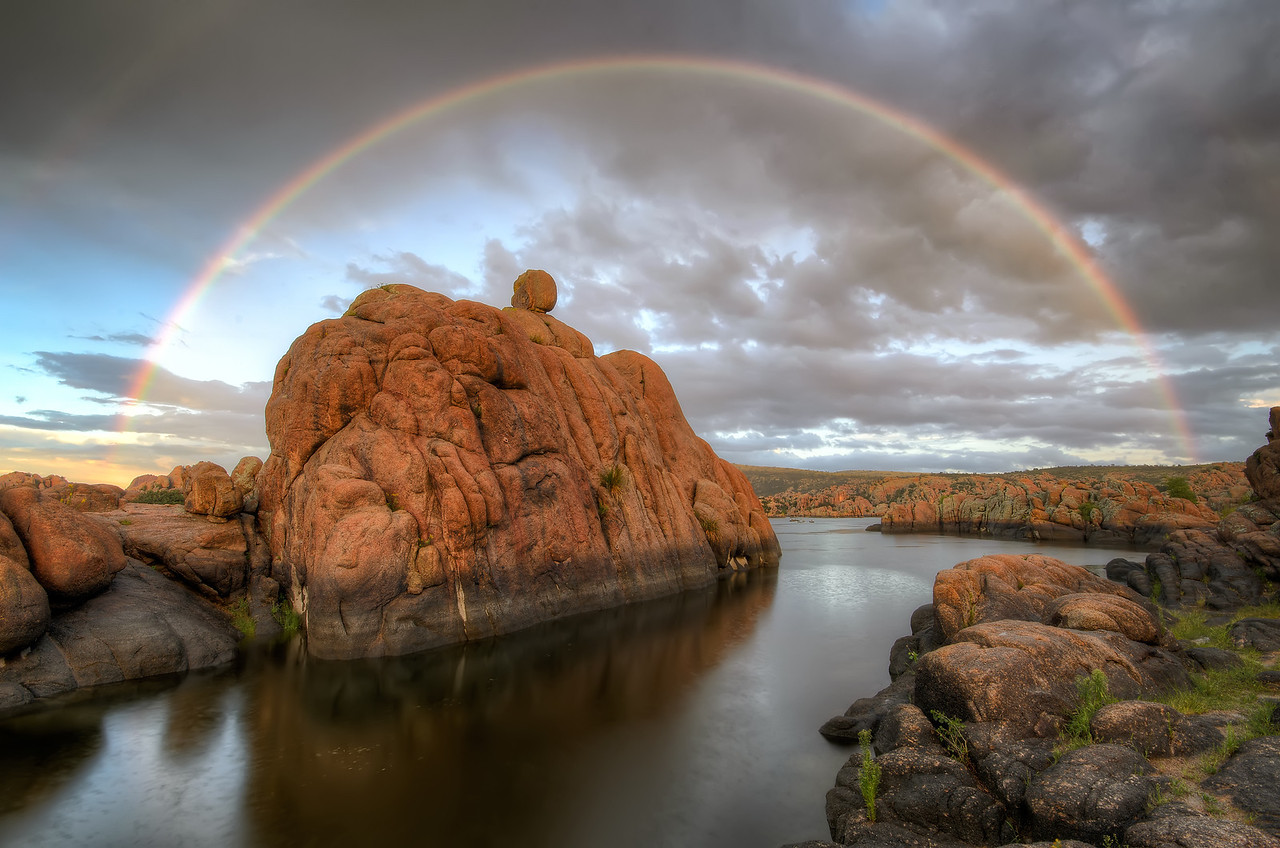 Rainbow at Watson Lake in Prescott, AZ