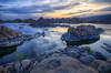 Just before sunrise on Watson Lake in Prescott, AZ