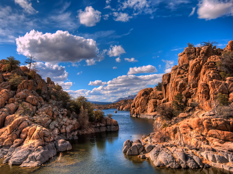 Cloudy Afternoon at Watson Lake From Peavine Trail, Prescott