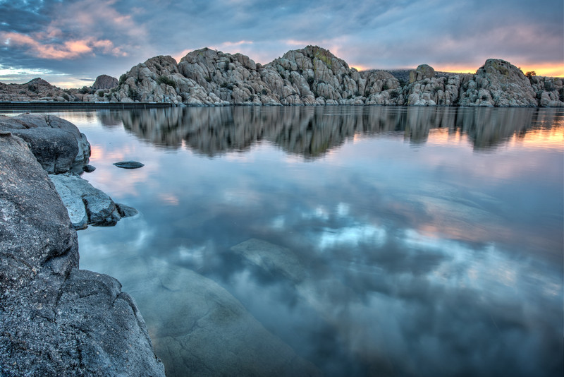 Sunrise on Watson Lake