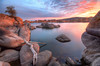 Morning Sunrise at Watson Lake in Prescott with drift wood
