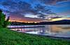 Boat dock Sunset at Watson Lake in Prescott