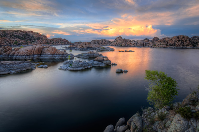 Calm Tranquil Water After Sunset, Watson Lake, Prescott