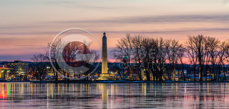 Perry Monument Bi Tower Christmas 2020 Pano