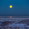 Presque Isle Ice Moonset 2021