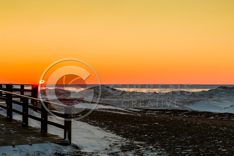 Presque Isle Beach 7 Frozen Sunset 1