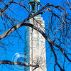 Perry Monument Winter Moon Sunny Portrait